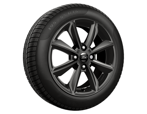 1x Satz Ford Fiesta Winterräder (Reifen + Felge) Alu schwarz ab 05/17 195/60 R15 88T Semperit 2403338