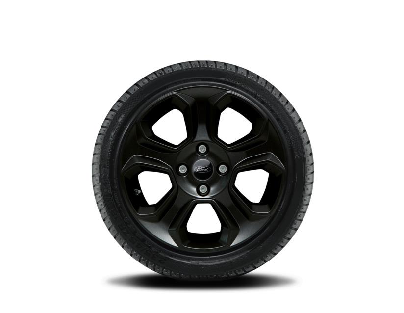 1x Satz Ford Ecosport Winterräder (Reifen + Felge) Alu schwarz ab 10/2017 205/60 R16 92H Semperit 2538189