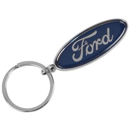 1x Ford Schlüsselanhänger blau Logo Metall 35020798